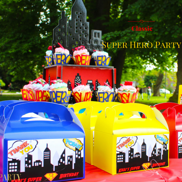 #ThrowBackThursday- Super Hero Themed Party In The Park!