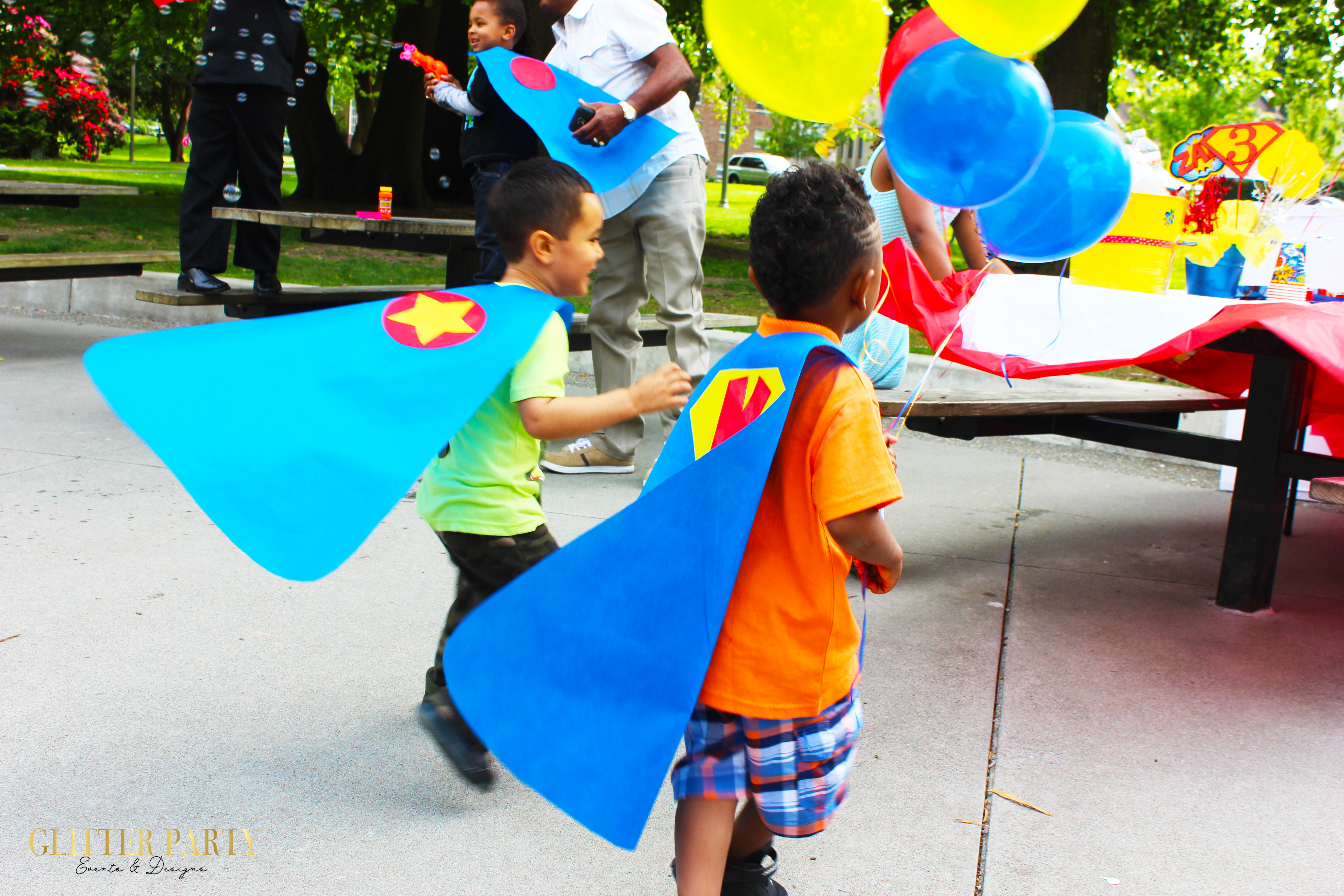 5 great places for a kids party in tacoma super hero party ideas no sew capes junglespirit Gallery