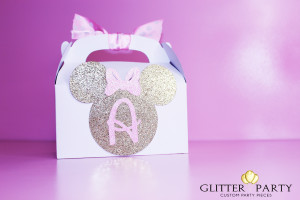 glam pink and gold princess minnie mouse birthday party custom decorations by theglitterparty