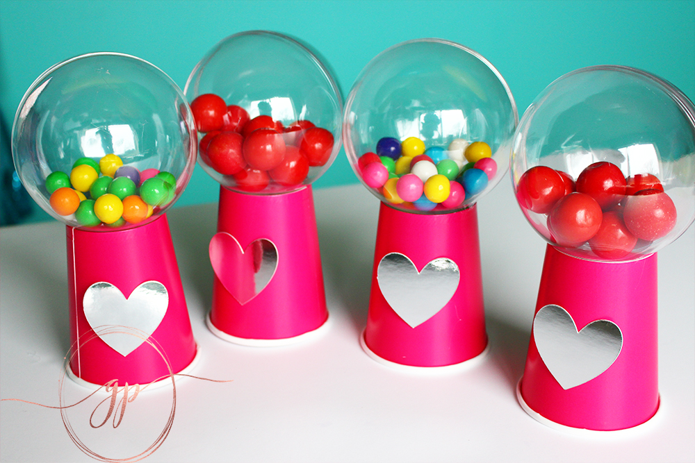 Easy DIY Gumball Machine Tutorial For Valentines Day